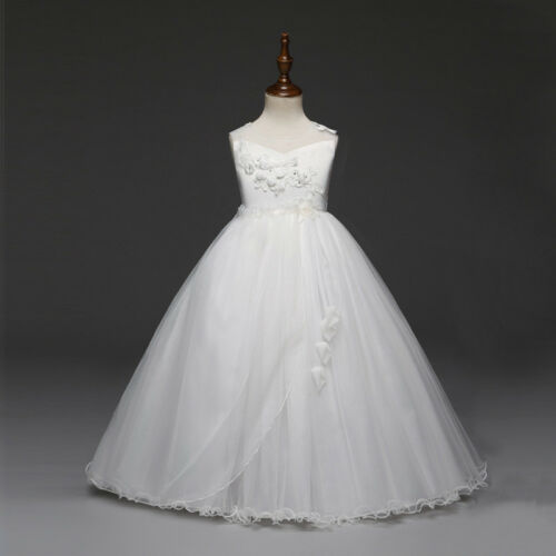 Flower Girl Dress Princess Formal Graduation Bridesmaid Size 6 8 10 12 14 16