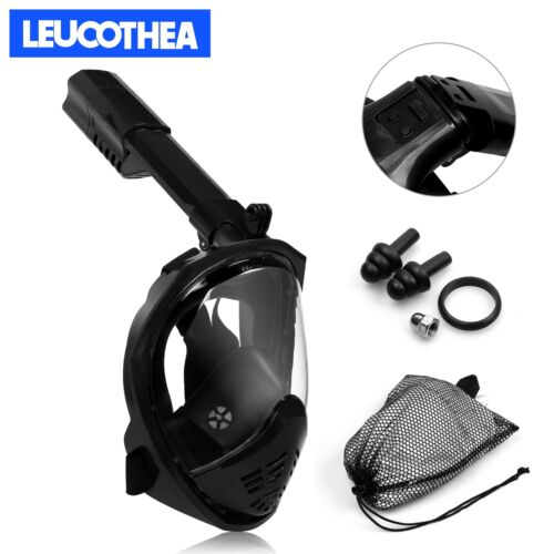 Full Face Scuba Snorkeling Snorkel Mask Diving Goggles Breather Pipe For GoPro.