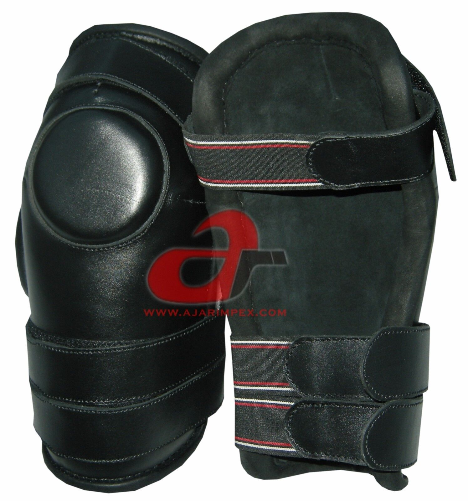 3 Strap Polo Knee & Ridding Knee Polo Guards-Leder and Padded 100% Real Leder- d65b73