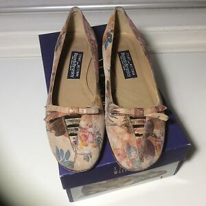 Uk For Stuart Weitzman Suede Russell 5 Flats Floral Bromley wO6wTq