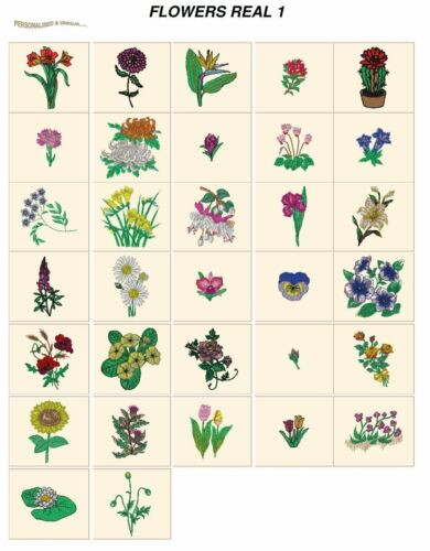 CARD machine embroidery designs jef files 4 janome 300e real FLOWERS 1
