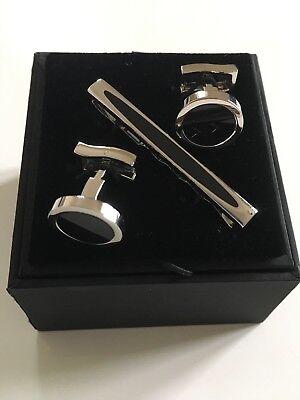 T.M.Lewin Men/'s Silver Metal Round Cufflinks