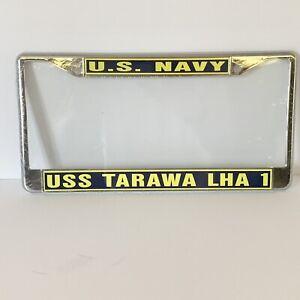 USS TARAWA LHA 1 Eagle of the Sea License Plate Frame US Navy USN Military
