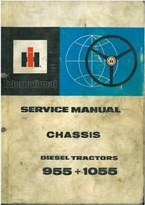 international tractor 955 1055 chassis workshop service manual ebay rh ebay co uk 16 Row 955 Case IH Planters Case IH 995