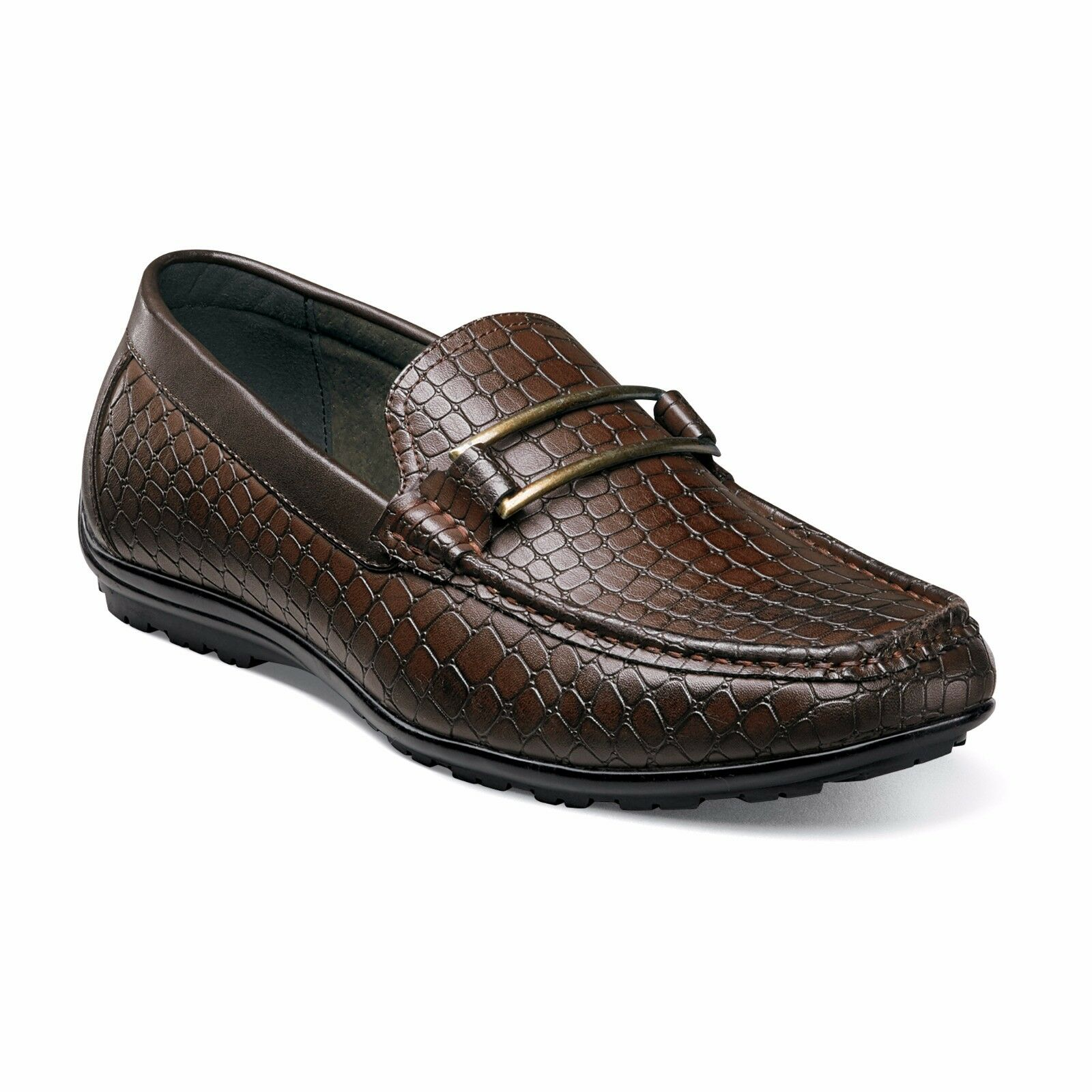 Stacy Adams Men's LANZO Moc toe slip-on Brown Shoes 25057-200