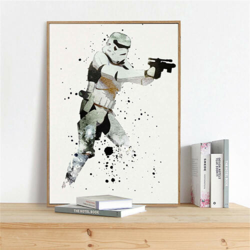 Watercolor Star Wars Stormtrooper Movie Canvas Poster Art Print Wall Home Decor