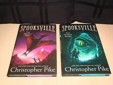 2 Spooksville Series Book Lot Hardcover Christopher Pike 11 & 12 Deadly Past