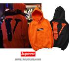 Men's Hoodies VLONE & SUPREME Embroidering Hooded Box Logo Thicken Sweatshirt