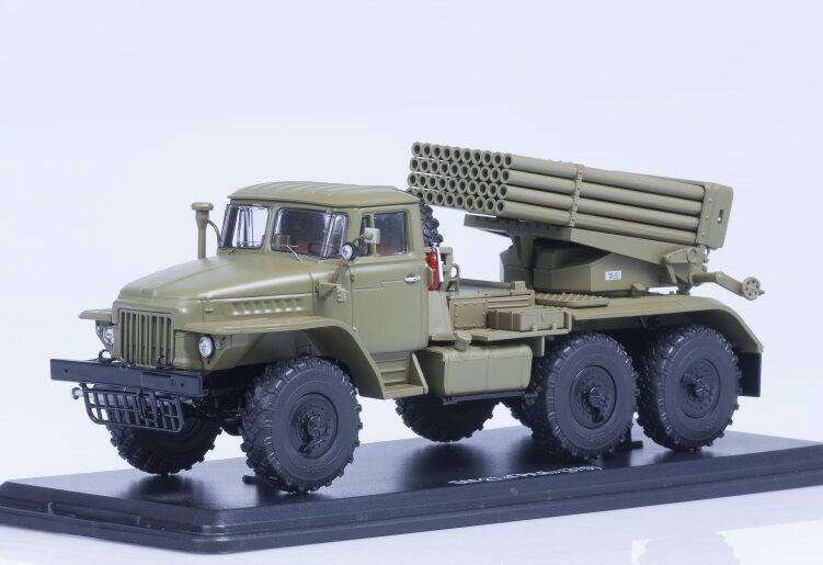 Start scale models (SSM) 1 43. Ural - 375 bm-21  grados  multiple rocket launcher.