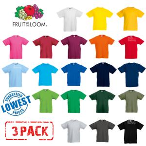 3-pack-fruit-of-the-loom-enfants-t-shirt-tee-enfants-garcons-filles-ecole-pe-tous-ages