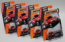 FREIGHTLINER M2 106  * LOT OF 4 * 2016 MATCHBOX * FIRE TRUCK FIREFIGHTER RED