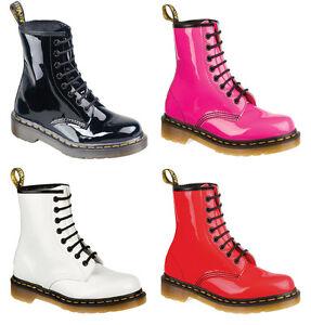 dr martens air wair patent boots 1460z 8 eyelits ebay. Black Bedroom Furniture Sets. Home Design Ideas