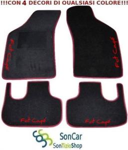 FIAT-Coupe-Tappeti-Tappetini-AUTO-4-Ricami-Colorati