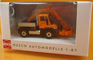 Busch-50922-Mercedes-Benz-Unimog-u-430-cortarramas-de-scale-1-87-nuevo-embalaje-original
