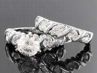 Jtv Bella Luce 5.38ct Dillenium Cut 925 Sterling Silver Wedding Set Sz 8