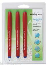 Manuscript Handwriting Pens Triple Pack-Blue Ink