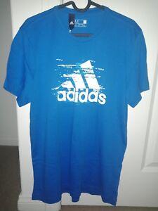 49e32ba2ea adidas Men s Essentials Logo Tee T-Shirt Tennis Training Casual Blue ...