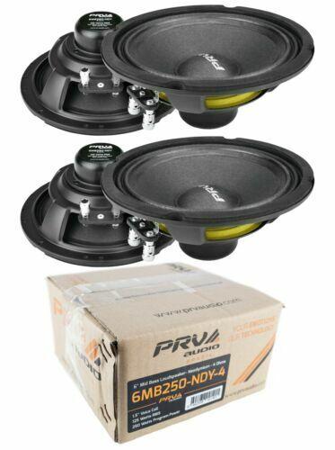 4x PRV Audio 6MB250-NDY-4 6  Neo Mid bass Range Loud Speaker 4-ohm 1000 Watts