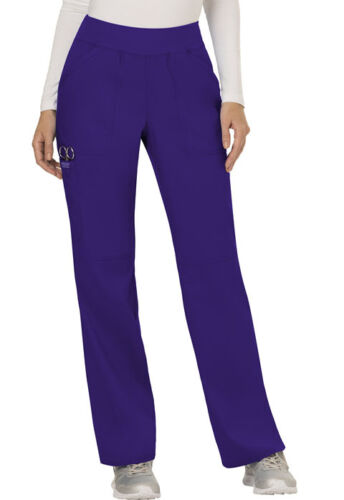 Scrubs Cherokee Workwear Mid Rise Pull On Pant WW110 GRP Grape Free Shipping