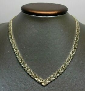 40-6cm-Plata-Maciza-de-Ley-039-CVS-039-Italia-925-Elegante-6-5mm-Enlace-Collar