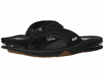 Reef Mens Fanning Sandal Black//Silver 11 DM US