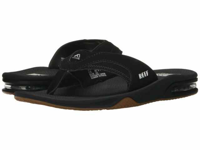 Black//Silver Reef Fanning Sandal Men/'s 13