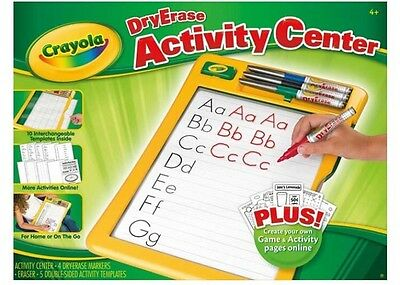 Crayola Dry Erase Activity Center Play Create And Learn 4 Markers Eraser & More