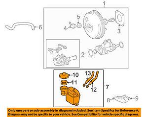 s l300 toyota oem 04 10 sienna brake master cylinder reservoir 4722008030