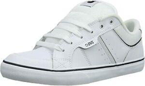 DVS-Shoes-Barton-white-leather-weiss-Skate-BMX-MX-NEUWARE-Gr-42-5-47