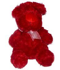 Nanco Red Puppy Dog Long Hair Big Nose Plush Lovey Stuffed Animal 15 inch Sits