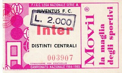 Calcio/Football Biglietto Ingresso Stadio JUVENTUS - INTER ...