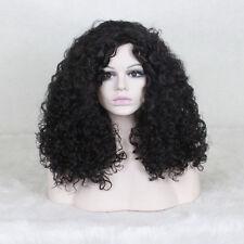 ladies Fashion wig Charm Women's Black Curly Natural Hair Full wigs +a wig cap
