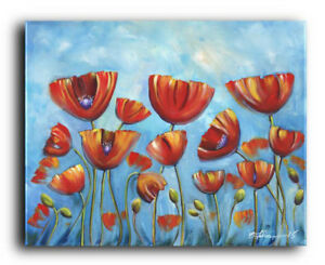 Original painting poppies flowers landscape garden contemporary image is loading original painting poppies flowers landscape garden contemporary abstract mightylinksfo
