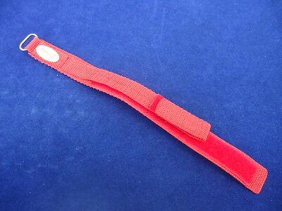 #928/r Uhrarmband F. Sportwatches Rot Breite Ca 25/18mm Klettverschluß