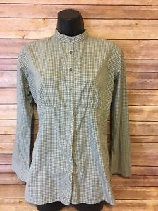 Patagonia-Long-Sleeve-Shirt-Size-2-Womens-Green-Plaid-Button-Down-Checked-Small