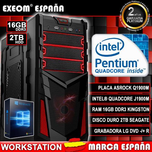Ordenador De Sobremesa Pc Gaming Q1900M 9,6GHz 16GB RAM 2TB HD HDMI...