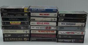Lot of 23 Cassette tapes Classic Rock / Pop / 70s / 80s Z Z Top, Asia, U2, RATT