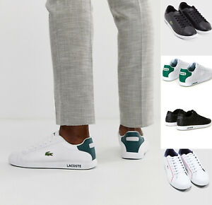 Mens-Lacoste-Shoes-GRADUATE-Casual-Leather-Sneakers-NEW