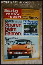 AMS Auto Motor Sport 21/73 * Porsche 911 S VW Käfer Carrera Alfa Spider