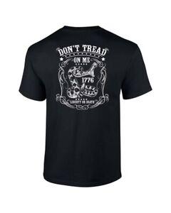 117d186a Mens NRA Pro Gun Dont Tread On Me T Shirt 1776 Liberty Or Death | eBay