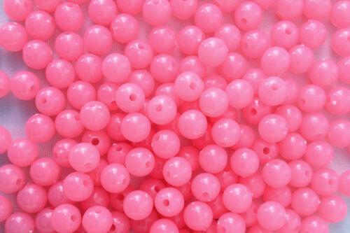 250 Pale pink colour Opaque Plastic Beads 8 mm Idéal to Make autres Bracelets ab0216