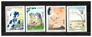 ITALIA-MNH-2001-Flowers-Animals-4v-s32436