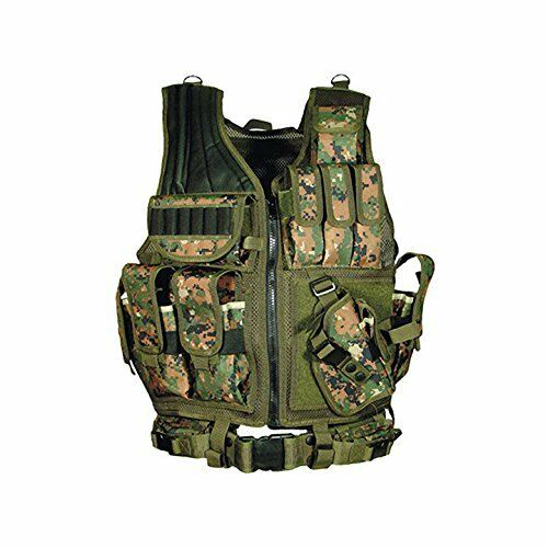Tactical Outdoor Law Enforcement Vest Adjustable Adult SWAT Military Police Vest