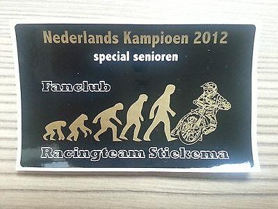 Aufkleber Mark Stiekema Hol Racing Team Langbahn Speedway