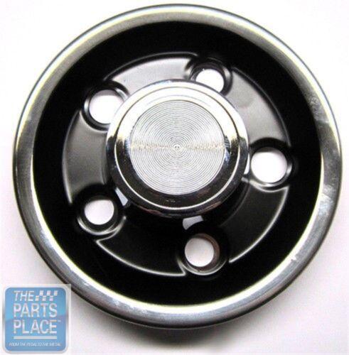 1965-68 Pontiac Rally I Chrome /& Black Center Cap New Each