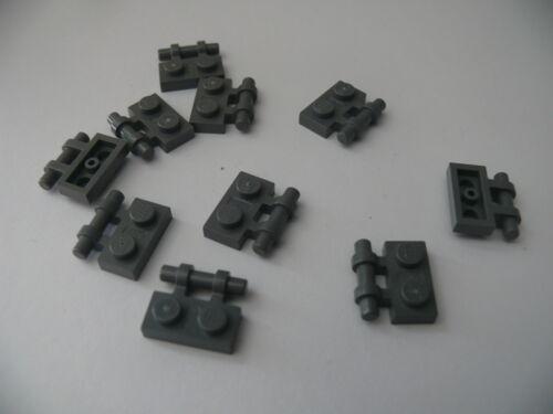 Lego 10 poignees gris fonce bluish 21016  7622 7199 10 dark bluish pl modified