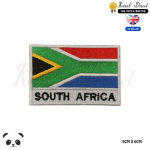 SOUTH-AFRICA-National-Flag-With-Name-Embroidered-Iron-On-Sew-On-Patch-Badge