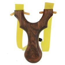 Handmade Wooden Catapult Traditional Slingshot Flat Rubber Band Pro Shot Hunting