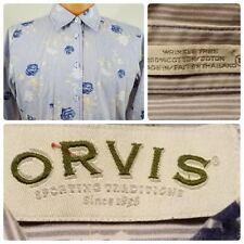 Orvis Women's Button Front Shirt Blouse sz 10 Floral Print Wrinkle Free  Loc 522