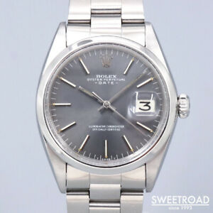 Rolex Oyster Perpetual Date 1500 Vintage Cal.1570 Automatic Mens Watch